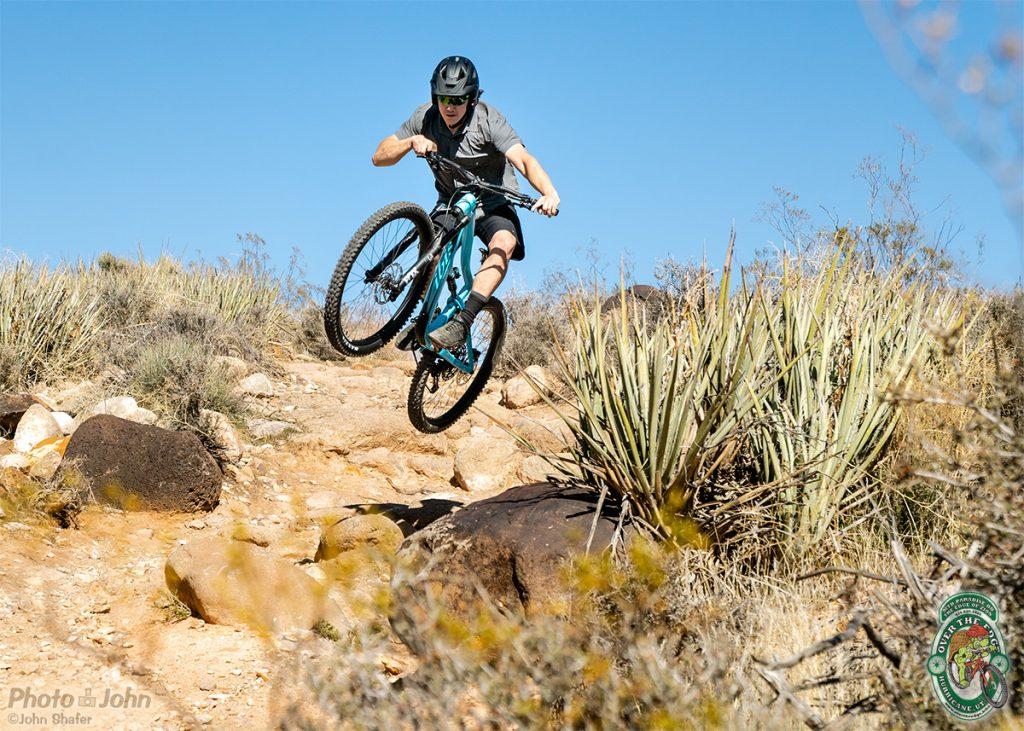 Mountain bike jump.