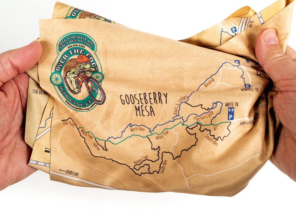 Cloth Mountain Bike Trail Map